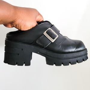 Vintage Harley Davidson chunky open back shoes